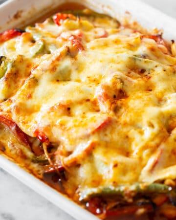 Chicken Fajita Casserole With Cheese