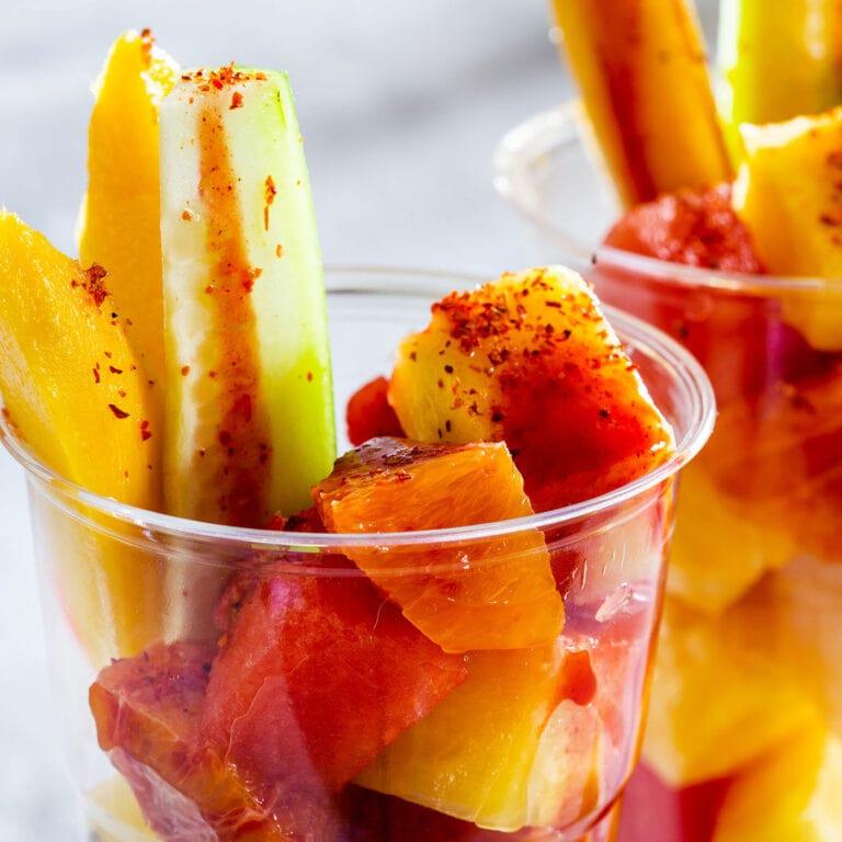 Mexican Fruit Cups (vasos de fruta)