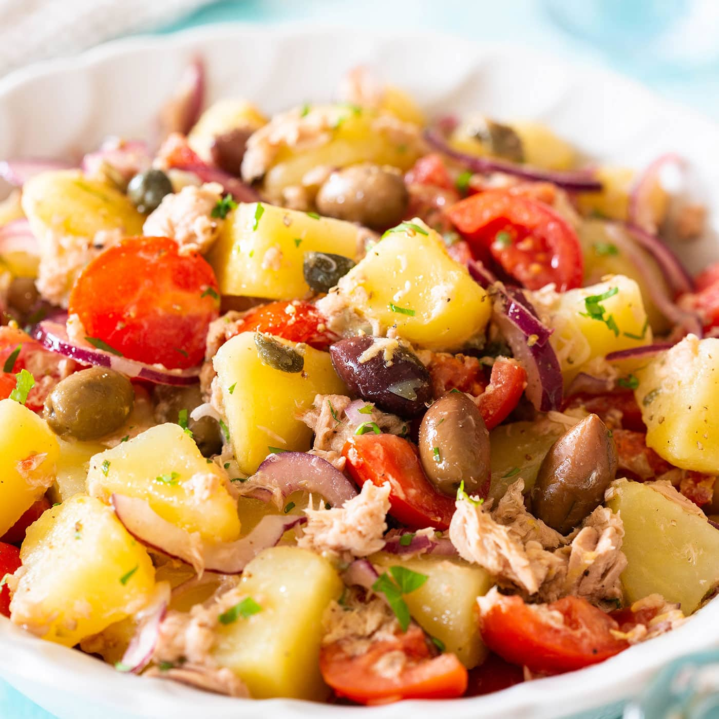 Tuna potato salad recipe.