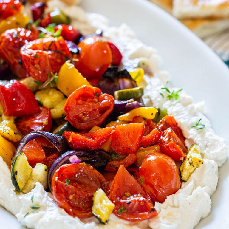 Whipped Ricotta With Roasted Veggies