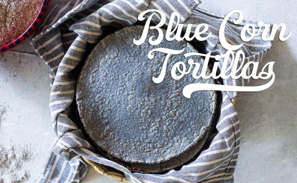 Blue corn tortillas banner.