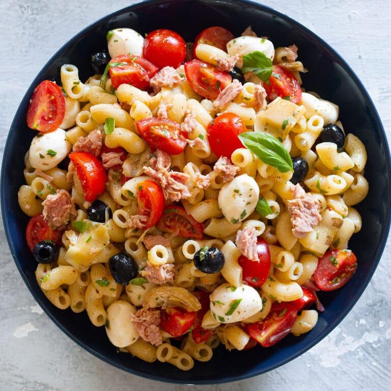 Tuna Pasta Salad (pasta fredda con tonno)