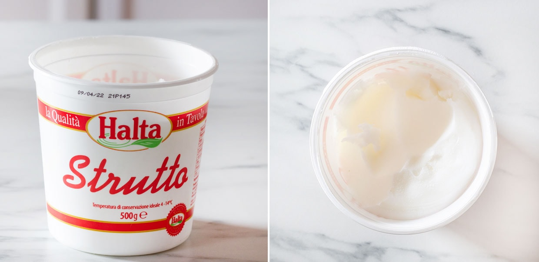 Italian lard (strutto).