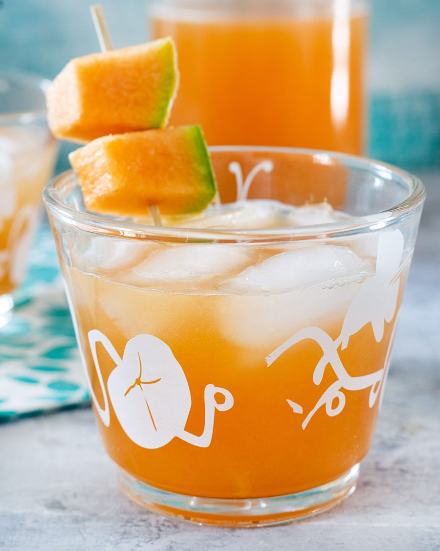 Melon water cocktail.
