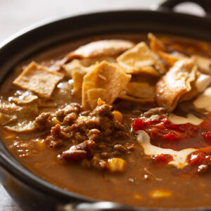 Beef enchilada soup recipe.