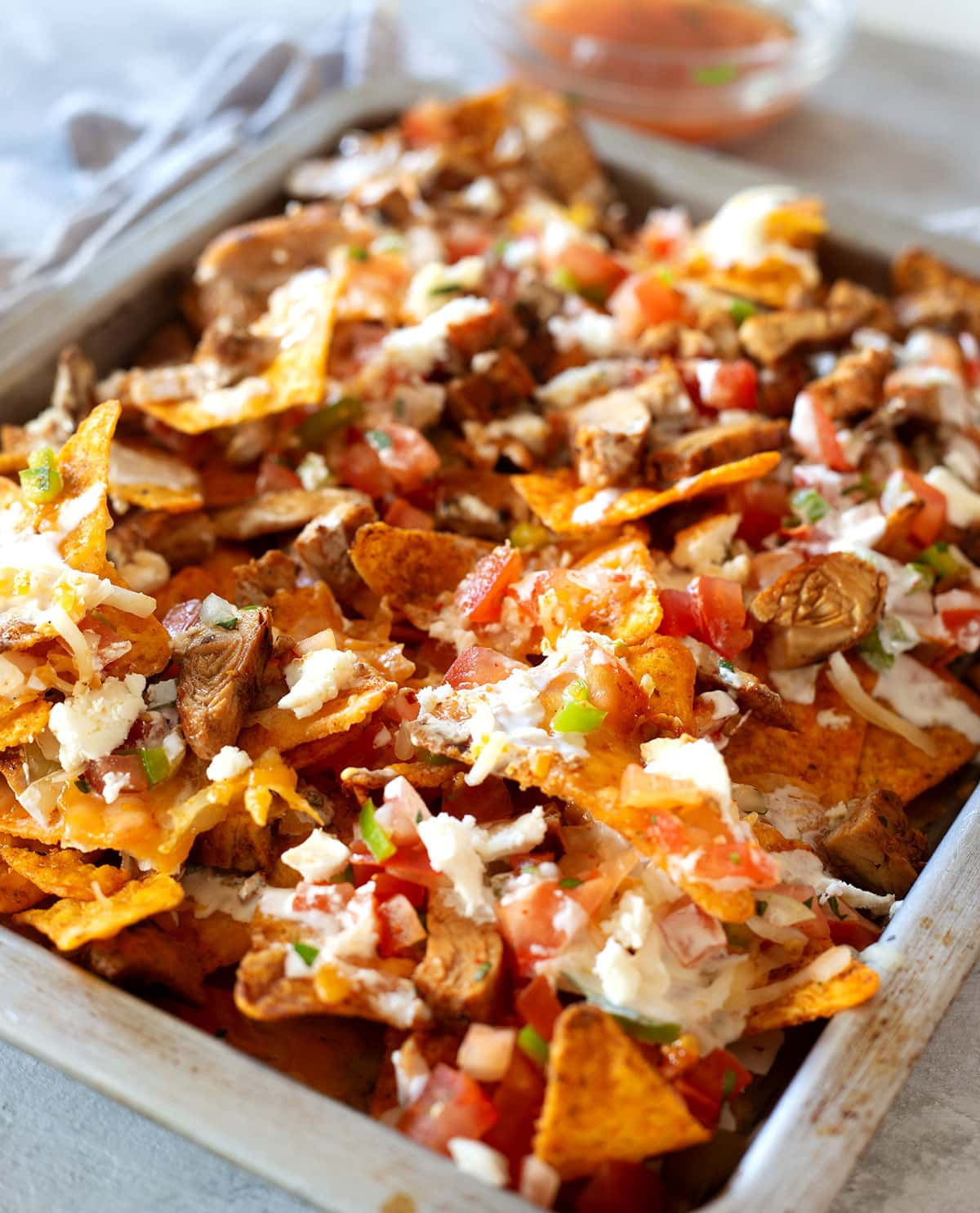 Loaded Doritos nachos.