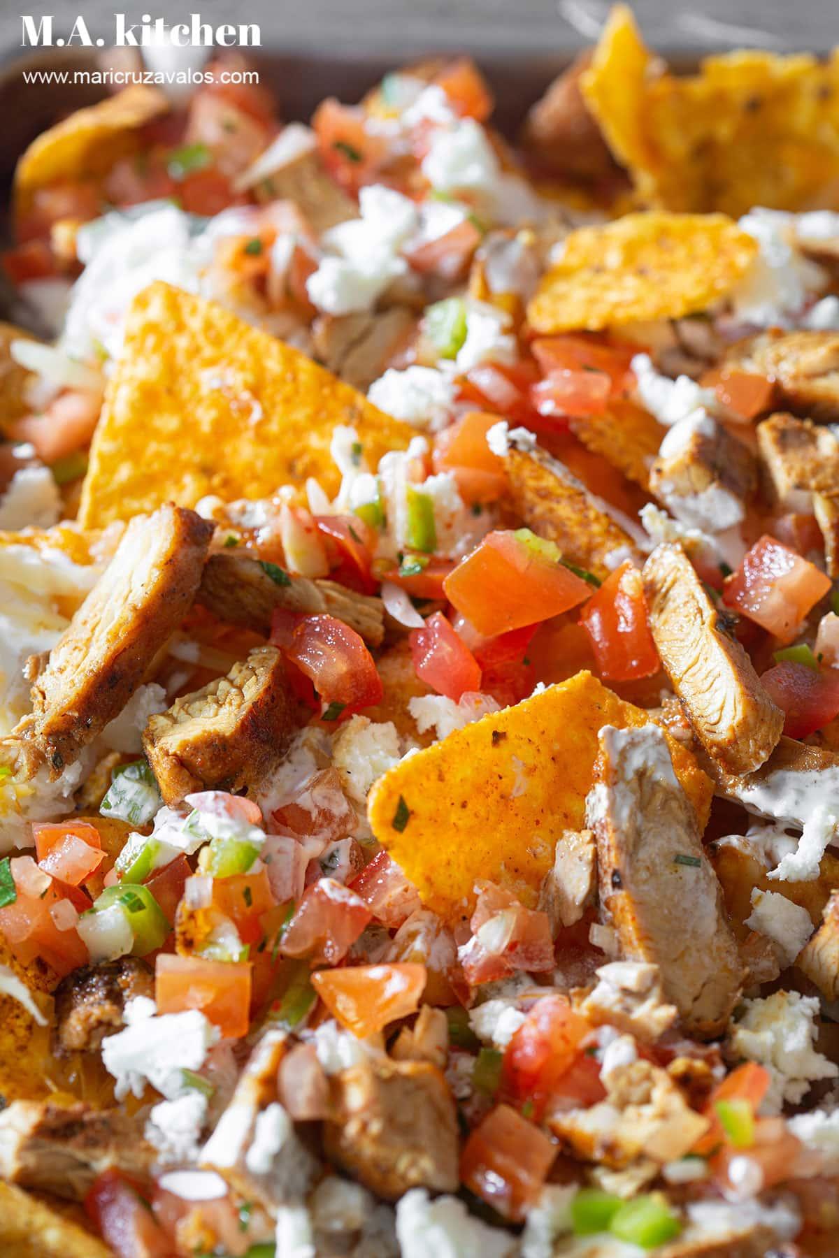 Doritos nachos closeup.