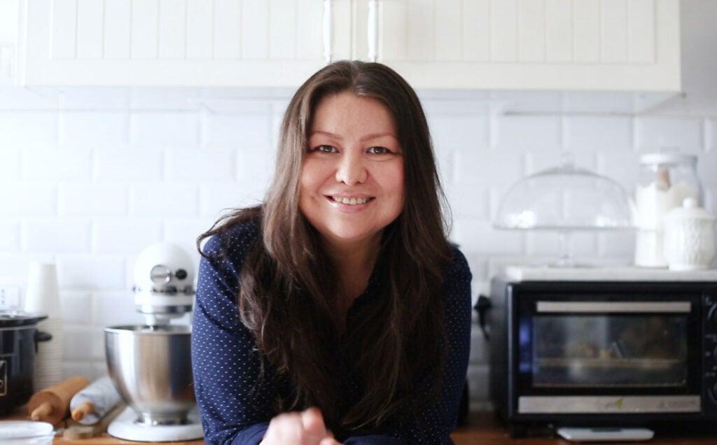 Maricruz in her kitchen.