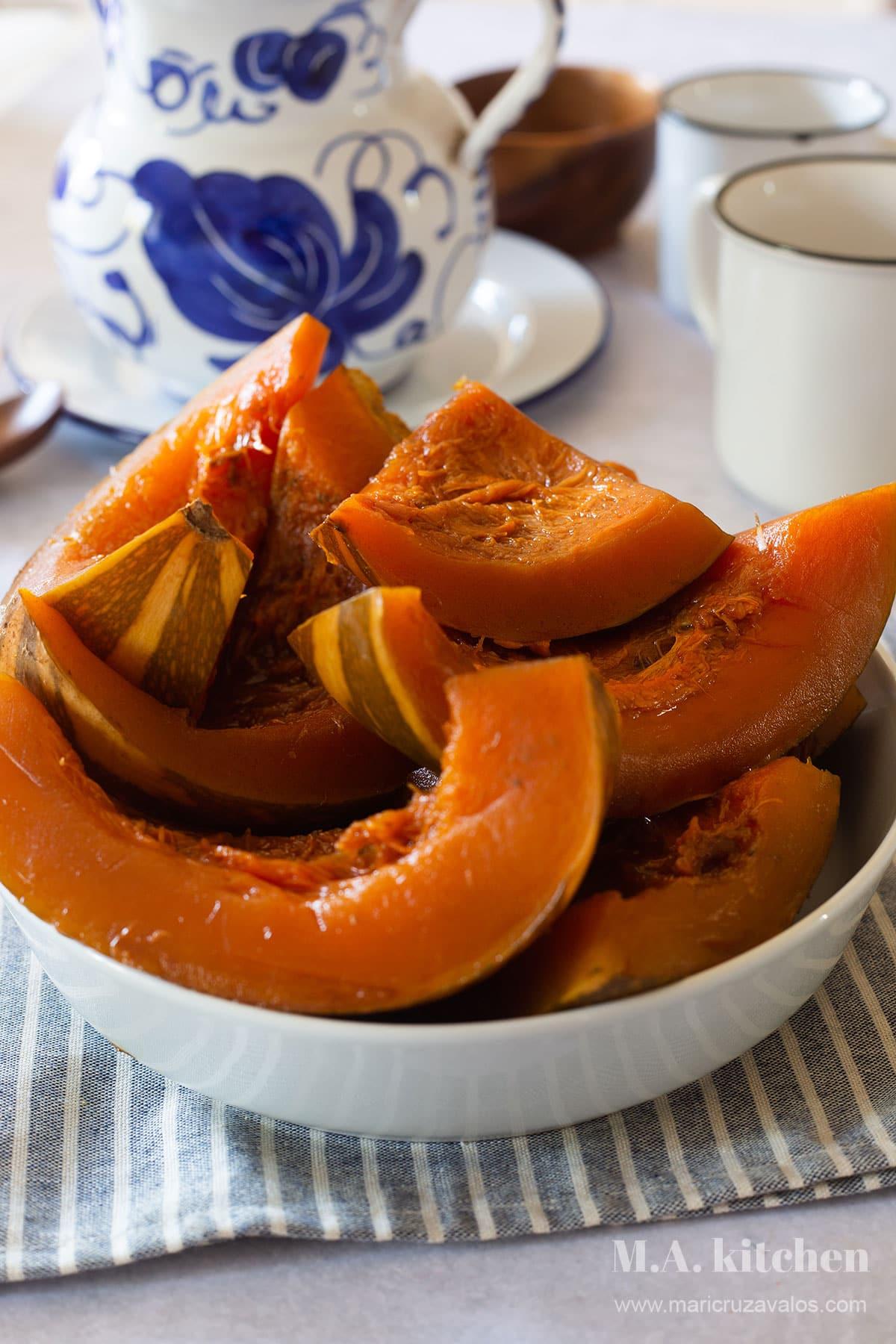 Mexican candied pumpkin (calabaza en tacha).