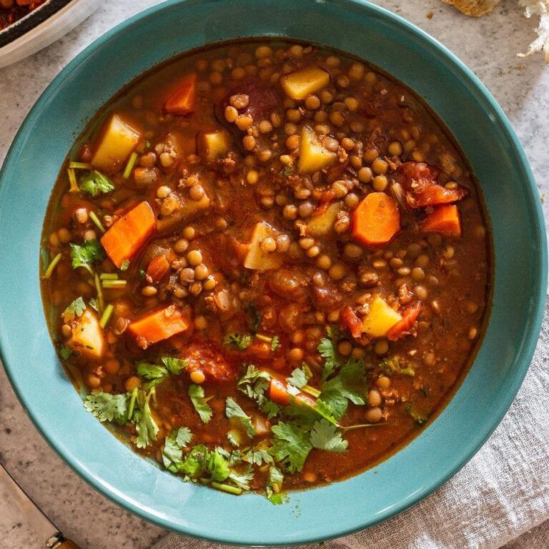 Lentejas (Mexican Lentil Soup With Chorizo)