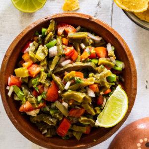 Nopales salad recipe.